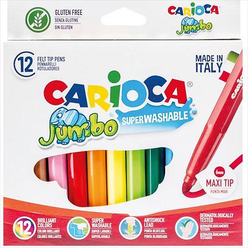 Μαρκαδόροι Carioca Jumbo 12τεμ