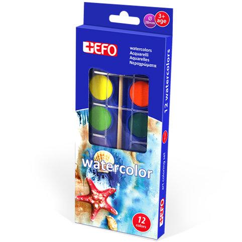 Νεροχρώματα +Efo 12 χρώματα