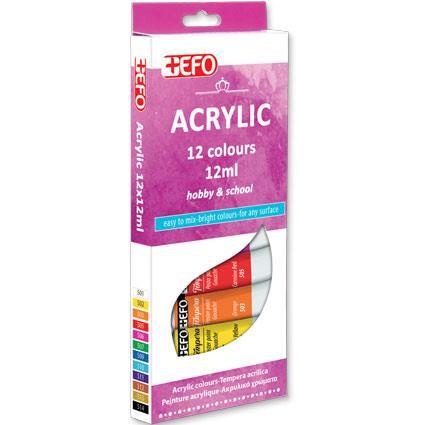 Ακρυλικό +Efo 12 χρώματα 12ml