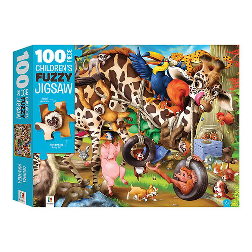 Ζώα σε Χάος – Παζλ Χνουδωτό 100 κομματιών