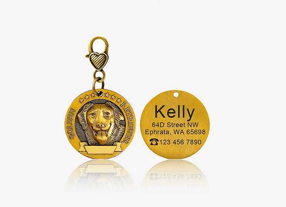 Personalized Golden Retriever I.D. Tag