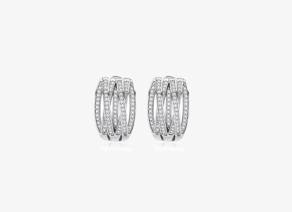 925 Sterling Silver Crisscross Earrings