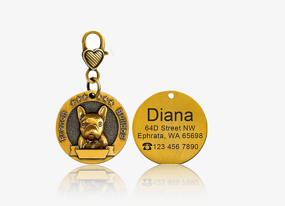 Personalized French Bulldog I.D. Tag
