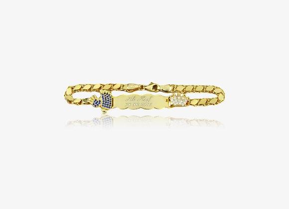 Gold Personalized New Born I.D. Bracelet