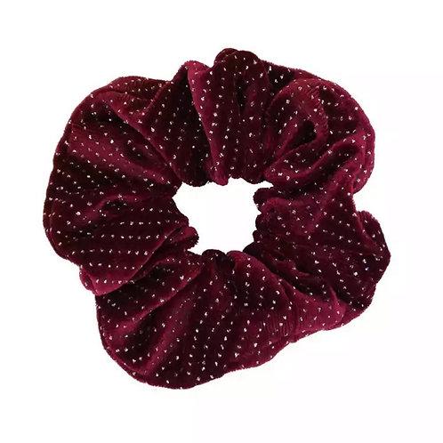 Velvet Rhinestone Hair Scrunchie