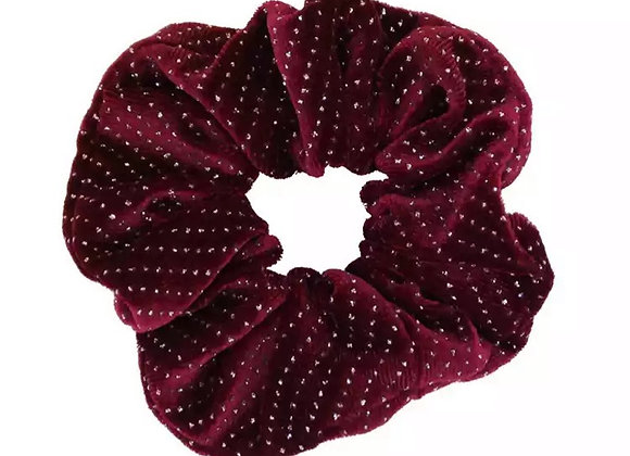 Velvet Rhinestone Hair Scrunchie