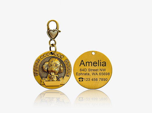 Personalized Poodle I.D. Tag