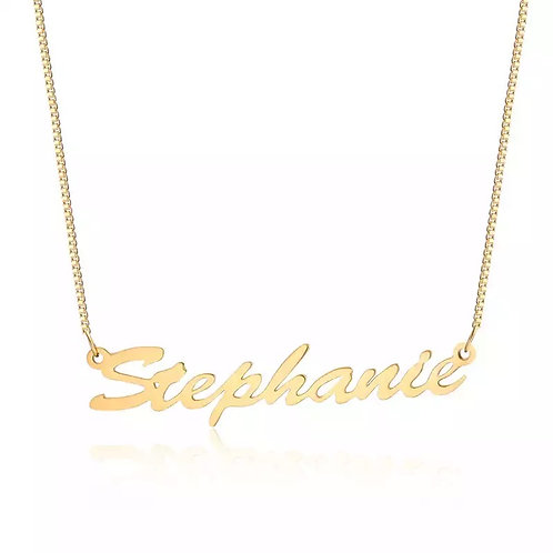 Personalized 18K Gold Necklace