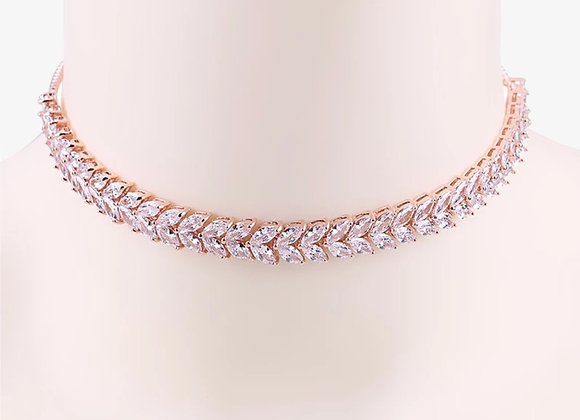 Rose Gold Marquise Choker