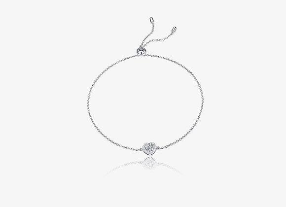 Moissanite Heart Bracelet