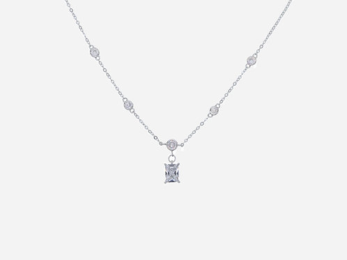 925 Sterling Silver CZ Pendant