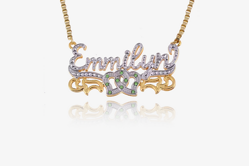 14K Gold Personalized Birth Stone Necklace