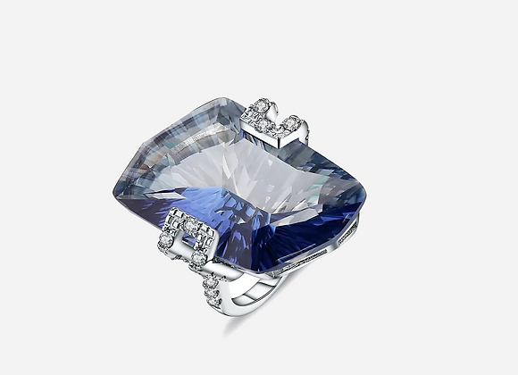 Natural Stone Sapphire Ring