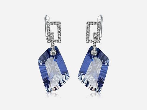 Natural Stone Sapphire Drop Earrings