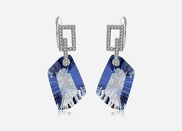 Natural Stone Sapphire Drop Earrings