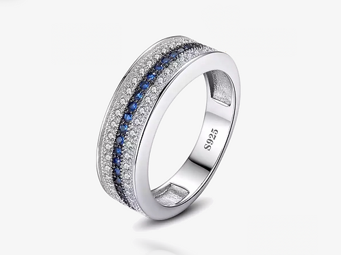 925 Sapphire Stackable Band