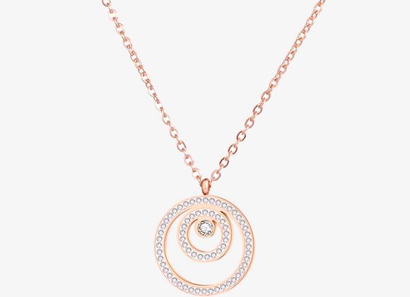 Rose Gold Circular Layered Necklace