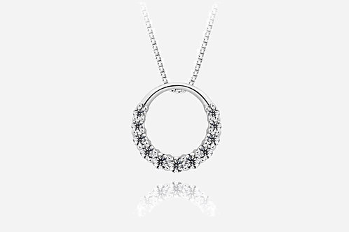 925 Sterling Silver Open Circle Necklace