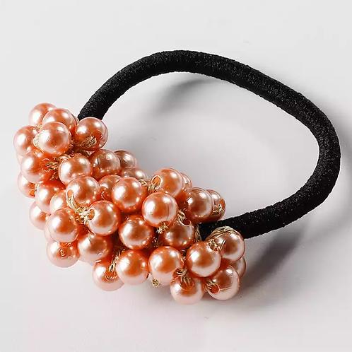 Retro Pearl Beads Elastic Hair Scrunchie