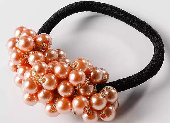 Retro Pearl Beads Elastic Hair Scrunchie