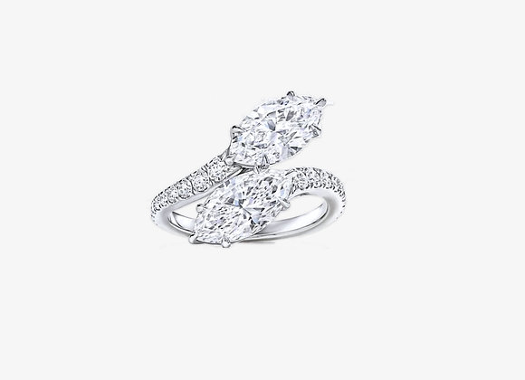 copy of 925 Sterling Silver Moissanite Pear Ring