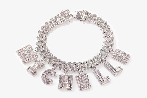 Personalized 18k White Gold Cuban Link Chain
