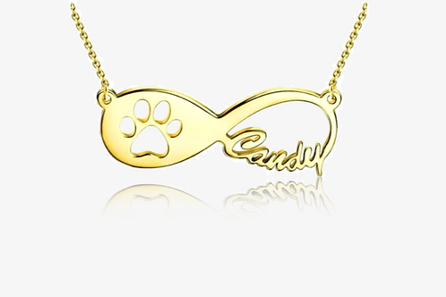 Personalized 10K Gold Pet Lover Necklace