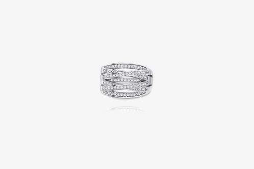 925 Sterling Silver Crisscross Ring