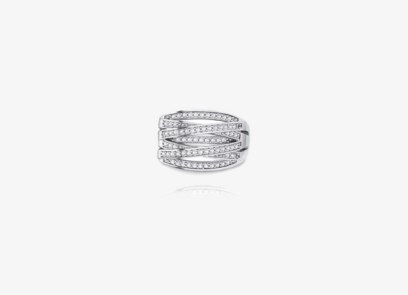 925 Sterling Silver Crisscross Ring
