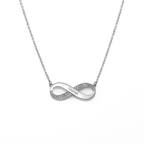Personalized Silver Infinity Necklace