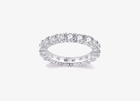 Round Stackable Eternity Band
