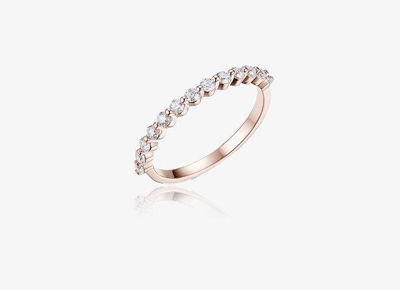 14k Yellow Gold Moissanite Bubble Ring