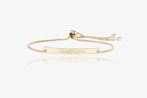 Gold Personalized Love Adjustable Bracelet
