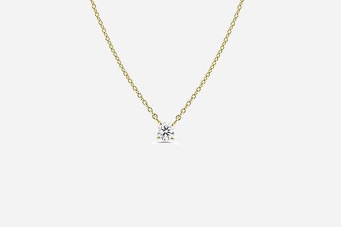 Gold Cubic Zirconium Necklace