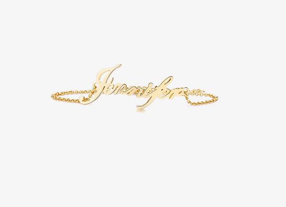 Gold Personalized Script Bracelet