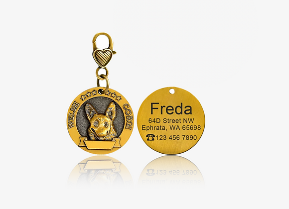 Personalized Welsh Corgi I.D. Tag