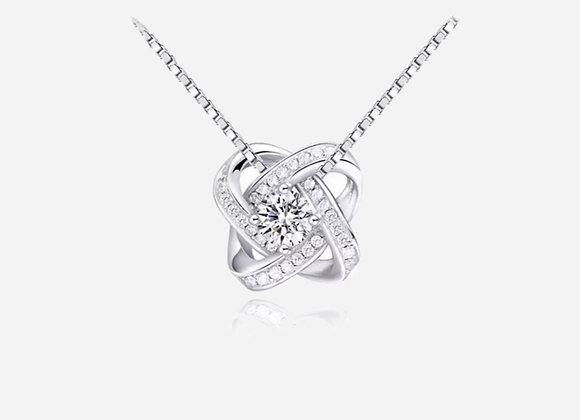 925 Sterling Silver Knot Necklace
