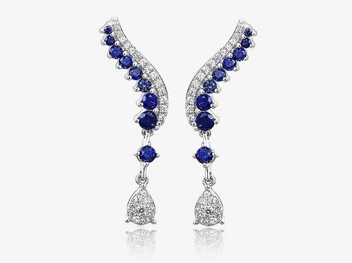 GLITZ Sapphire Pave Drop Earrings