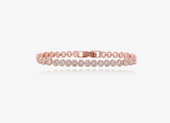 Rose Gold Round CZ Tennis Bracelet