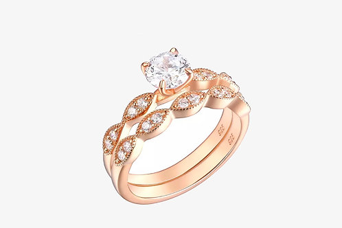 Rose Gold Double Solitaire Ring