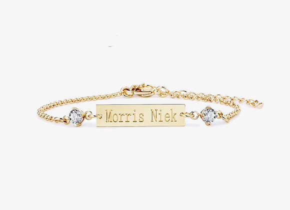 Gold Personalized Bar Bracelet