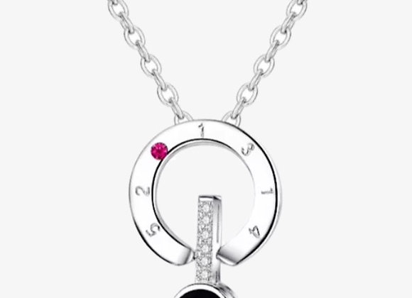 Silver I Love You Projection Necklace