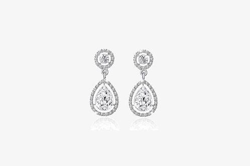 925 Sterling Silver Water Drop Earrings