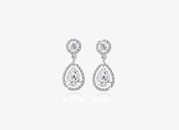 925 Sterling Silver Water Drop Earrings