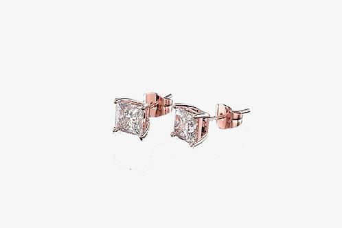 Rose Gold Moissanite Earrings