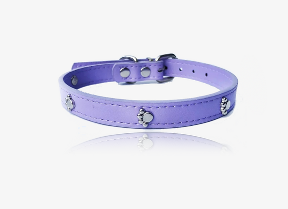 Leather Paw Embellished Collar