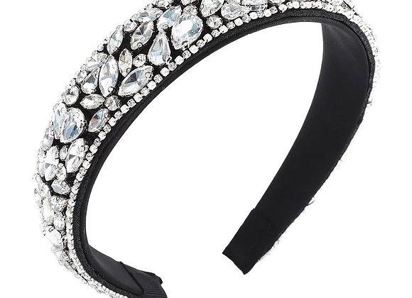 Black Crystal Headband