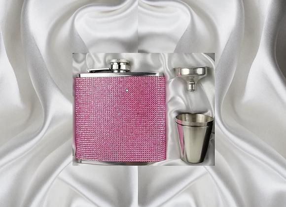 Pink CZ Flask Set