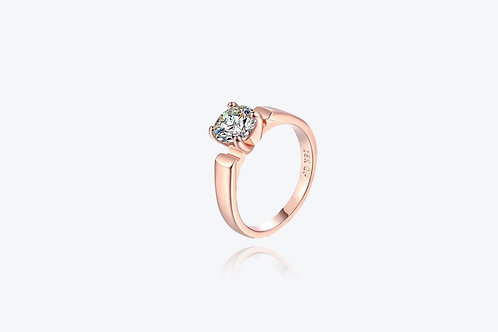 18k Rose Gold Solitaire Ring