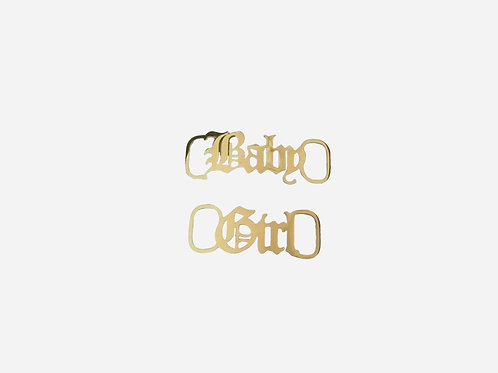Gold Personalized Shoe Buckle